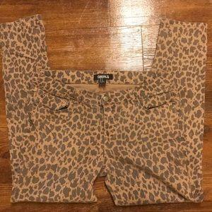 Size 30 Cheetah Leopard Premium Denim Skinny jeans